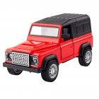 1:36 Kids Simulate Alloy Sound Light Pull Back Car Modeling Toy Land Rover comes standard with A red