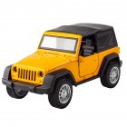 1:36 Kids Simulate Alloy Sound Light Pull Back Car Modeling Toy Jeep standard A yellow