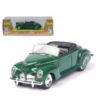 1/38 Simulation Alloy Convertible Classic Car with Sound and Light Children Toy Car  green