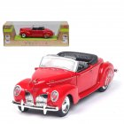 1 38 Simulation Alloy Convertible Classic Car with Sound and Light Children Toy Car  red