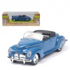 1/38 Simulation Alloy Convertible Classic Car with Sound and Light Children Toy Car  blue