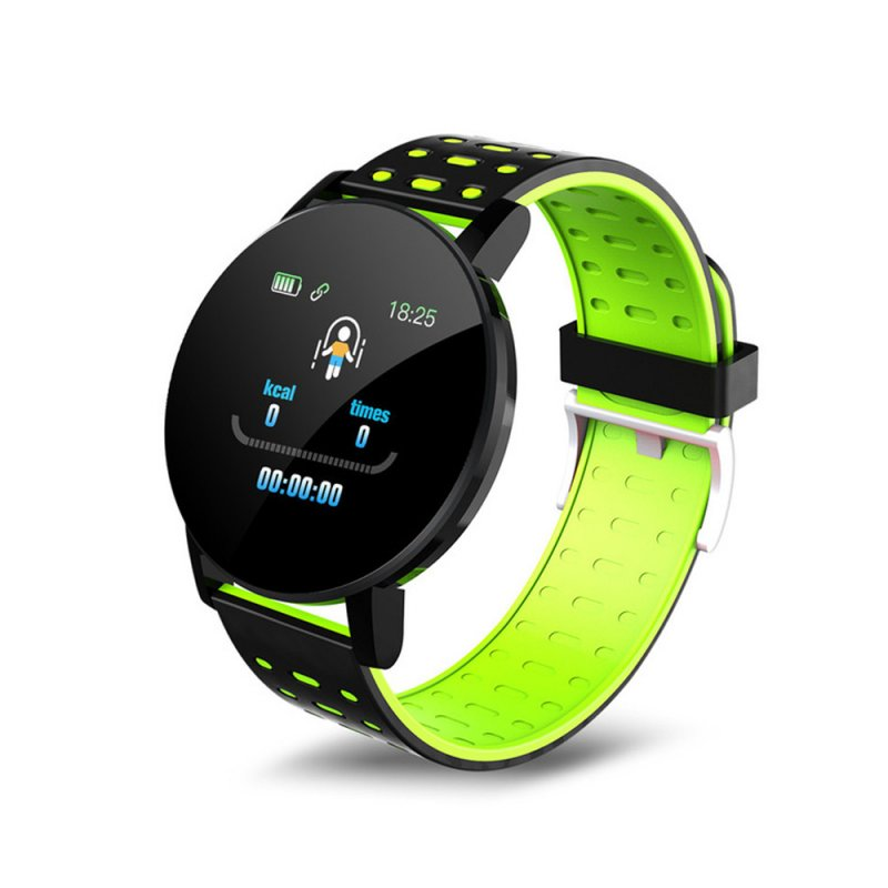1.3inch Sport Watch Intelligent Watch Bracelet Message Information Heart Rate Monitor Watch for Android iOS Green