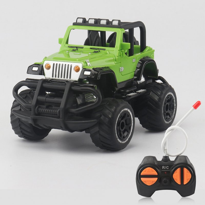 1:43 Mini RC Off-road Cars 4 Channels Electric Vehicle Model Toys as Gifts for Kids green