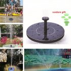 1 4W Portable Floating Round Solar Fountain for Garden Backyard Pond Outdoor black 16x16x3 8cm
