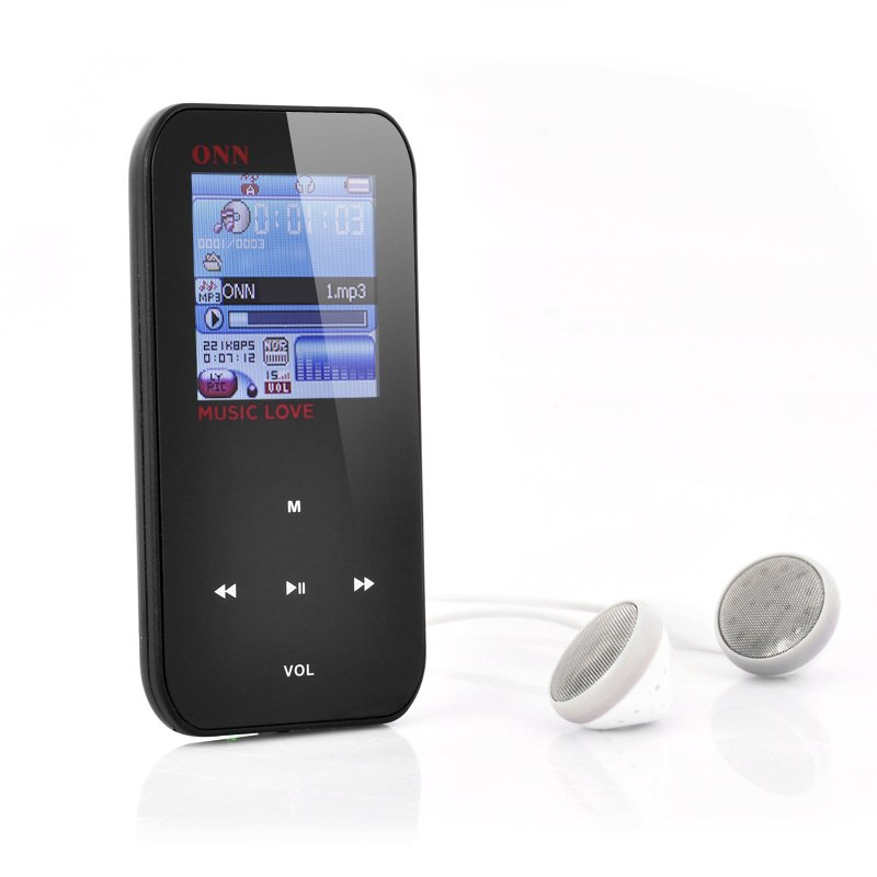 ONN Q2 1.5 Inch LCD MP3 + MP4 Player