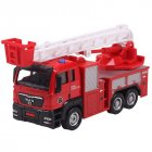 1:55 Push and Go Trucks Toy Ladder Truck