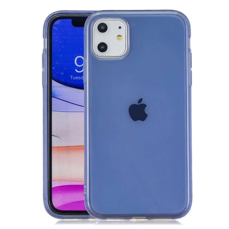 for iPhone 11 / 11 Pro / 11 Pro Max Clear Colorful TPU Back Cover Cellphone Case Shell Royal Blue