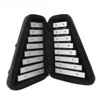 AF-30 Foldable Glockenspiel Sound Metal Keys Soprano Piano Children's Musica Learning Percussion Instrument black