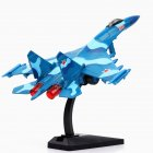 1/72 Simulation Russia Su-35 Fighter Plane Model Sound Light Function Christmas Gift Toy blue