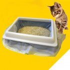 1 Bag of  7PCS  Cat Litter Bag Kitten Hygienic Litter Box Liners Pet Supplies  Large  large