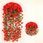 1 Bunch  Of Wall-mounted  Flower Silk Flower Simulation Chlorophytum Decorative Fake Flower Scarlet