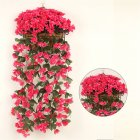 1 Bunch  Of Wall-mounted  Flower Silk Flower Simulation Chlorophytum Decorative Fake Flower Rose red