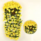 1 Bunch  Of Wall-mounted  Flower Silk Flower Simulation Chlorophytum Decorative Fake Flower yellow