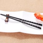 1 PCS Japanese Chopstick Durable Alloy Non Slip Sushi Chop Sticks Chinese GiftAFMD