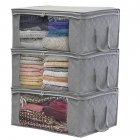 1 PCS Non-woven Foldable Storage Bag Organizers Dust-proof for Clothes, Quilts,Closets gray_49*36*21cm