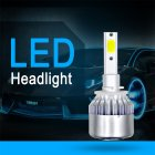 1 Pair COB LED Headlight Replacement Bulb