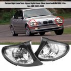 1 Pair Corner Light Lens Turn Signal Light Cover Clear Lens for BMW E46 3 Series