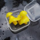 1 Pair Silicone Spiral Earplugs Yellow