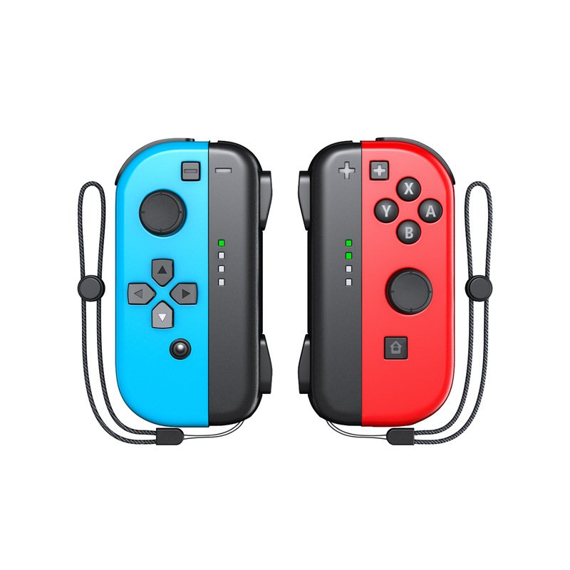 1 Pair Gamepad Controller Wireless Joystick Joycon for Switch Game with Wrist Strap Red blue
