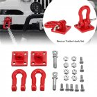 1 Pair Metal Trailer Hook Shackles Buckle for WPL/D90 RC Car Crawler Military Truck Parts As shown