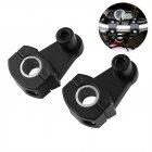 1 Pair Motorcycle Handlebar Clamps Riser 12mm or 28mm for Suzuki Yamaha Kawasaki BMW black