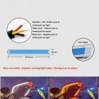 1 Pair Motorcycle Strip Light LED Daytime Running Light Sequential Flow Duotone White light + streamer yellow_30cm