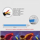 1 Pair Motorcycle Strip Light LED Daytime Running Light Sequential Flow Duotone Red light + streamer yellow_45cm