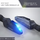 1 Pair Motorcycle Turn Signals LED Direction Lamp Waterproof Turn Signal Lights Blue light
