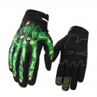 1 Pair Nylon Motorcycle Cross-country Gloves Touch Screen Type Windproof Waterproof Riding Gloves green_M