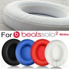 1 Pair Replacement Ear Pads Cushion for Beats Solo 2.0 3.0 Wireless Bluetooth Earphone white