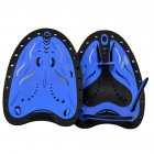 1 Pair Swimming Paddles Adjustable Hand Fin Training Diving Paddle Gloves Paddles WaterSport Equipment  blue_L (man with large adult hands)