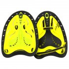 1 Pair Swimming Paddles Adjustable Hand Fin Training Diving Paddle Gloves Paddles WaterSport Equipment  yellow S  women and children or men with small hands