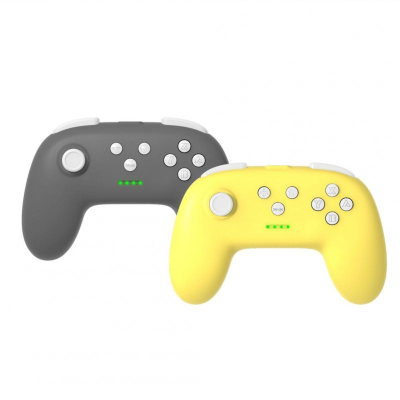 1 Pair of Bluetooth Wireless Game Controller for Switch Pro  Dark gray + yellow