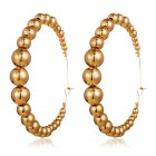 1 Pairs Of Men And Women Earrings Alloy Retro Style Exaggerated C-shaped Circle Earrings Golden