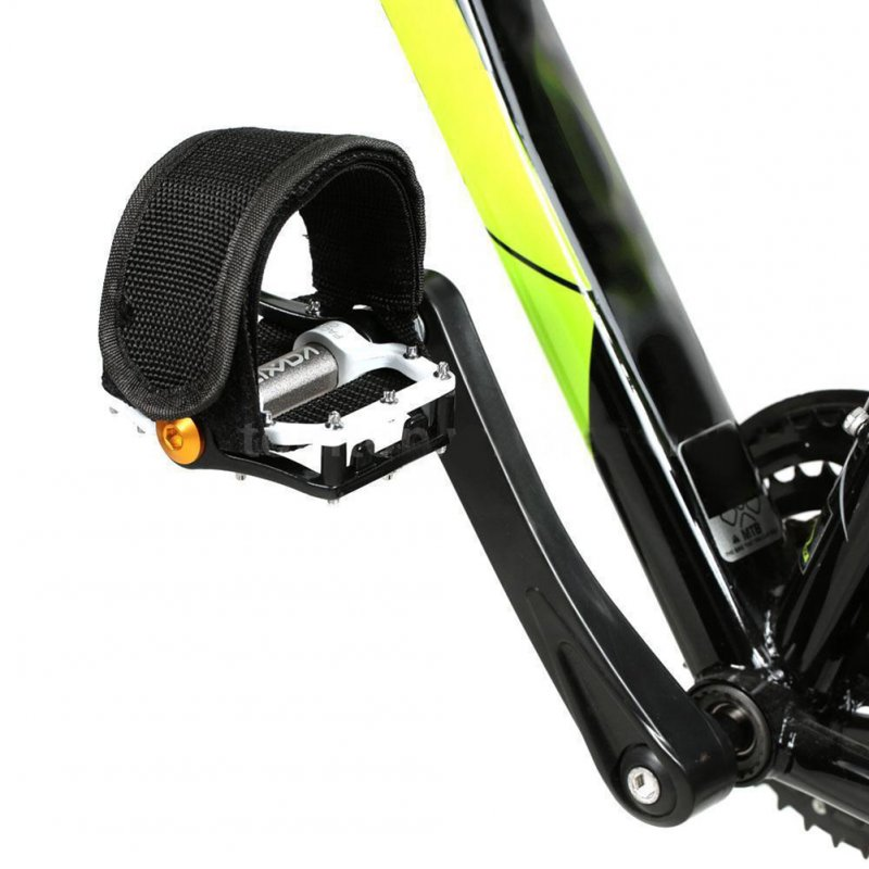 1 Pcs Bike Pedal Straps for Fixed Gear Bike, Lightweight Foot Toe Straps for Bike Pedals Black