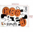 1 Set 45*60cm Bat Pumpkin Halloween Wall Srickers for Living Room Bedroom Decoration 45*60cm