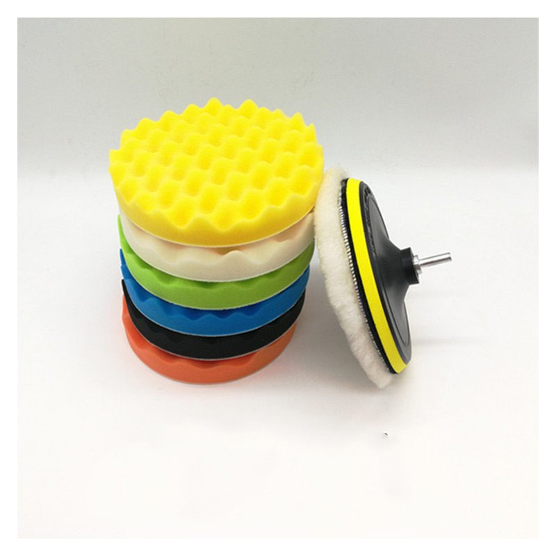 1 Set Buffing Sponge Polishing Pad Hand Tool Kit for Car Polisher Compound Polishing