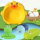 1 Set Of Children Toy Little Cute Duck Washbasin + Floating Toy + Pull-out Water Sprayer Water Toy Duckling washbasin
