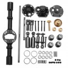 1 Set WPL B16 B36 1/16 Rc Car Upgraded Parts Metal OP Accessory Middle Bridge Axle black