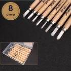 1 Set Wood Carving Chisels Knife Basic Cut Detailed Woodworking Gouges DIY Hand Tools 8 Pcs/box