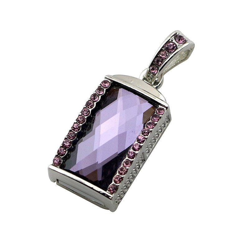 Metal U Disk Flash Drive-8G Purple