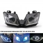 1 set LED headlight Assembly Angel Eyes for Kawasaki NINJA 250 300 ZX6R ZX 6R 13-16 black