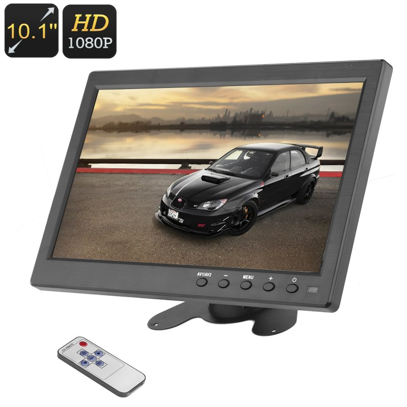 10.1 Inch 1024*600 Screen Kit Monitor Set HDMI+VGA+AV Car Display U.S plug