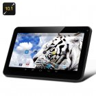 10 1 Inch Android 4 2 Tablet features A23 Cortex A7 Dual Core 1 5GHz CPU  10 Point Capacitive Touch Screen Display and 8GB ROM