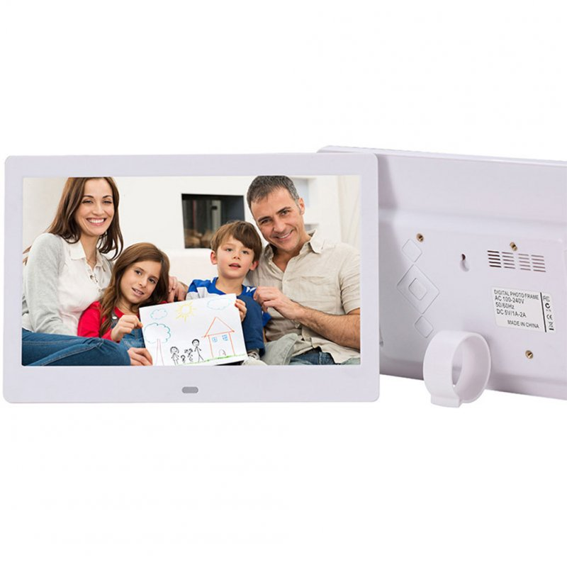 10.1 Inch Digital Photo Frame-White AU Plug