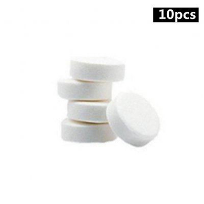 10/100pcs Multifunction Remove Stains Bacteria Disinfection Effervescent Tablet 10 pcs in bags