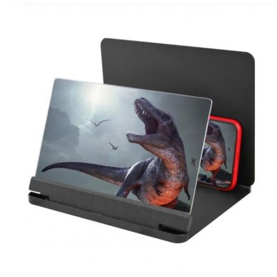10 12 Inch Mobile Phone 3d Screen Video Magnifier Bracket Folding Enlarged Desktop Smartphone Movie Hd Amplifying Projector Stand Black 10 Inches