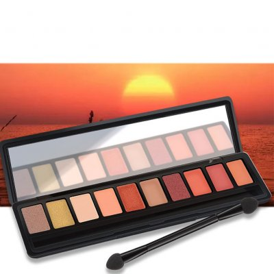10 Colors Pearl Matte Professional Eyeshadow Palette Long-lasting Natural 1#