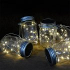 10 LED String Fairy Light Solar Mason Jar String Lights with Screw on Lid for Patio Garden Path Home Decor
