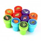 10 PCs Assorted Dinosaur Stamps Gift Toys